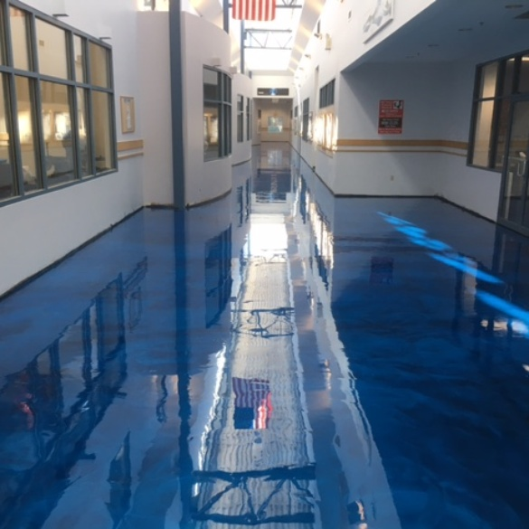 Office Building Metallic Epoxy Flooring
