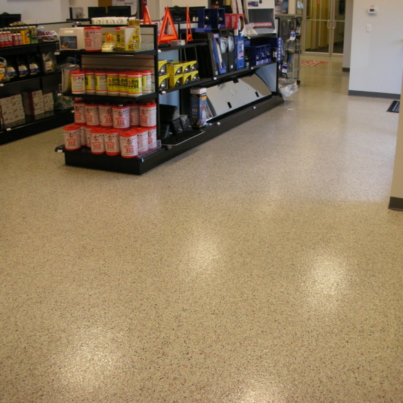 Retail Epoxy Color Flake Flooring
