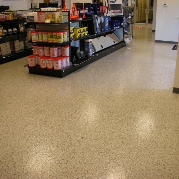 Retail Epoxy Color Flake Flooring