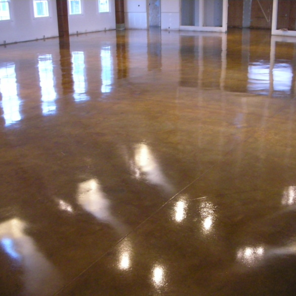 Concrete Acid Stain Church Floor