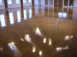Concrete Acid Stain Church Floor