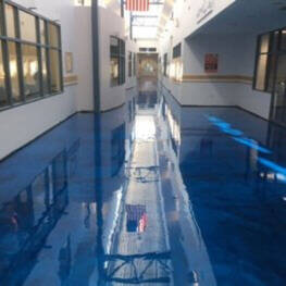 Metallic Epoxy Flooring. Office Building