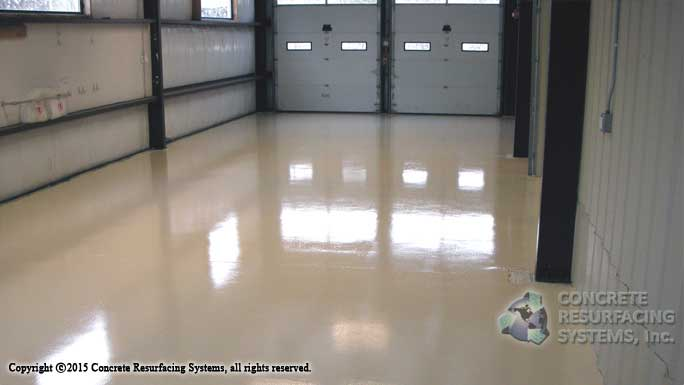 Epoxy flooring concrete resurfacing systems for 2 bay garage