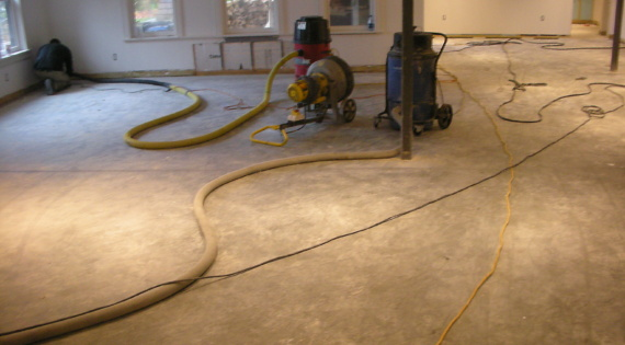 Concrete Grinding and Prep Work