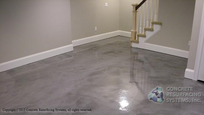 Metallic Epoxy Basement Concrete Resurfacing Systems