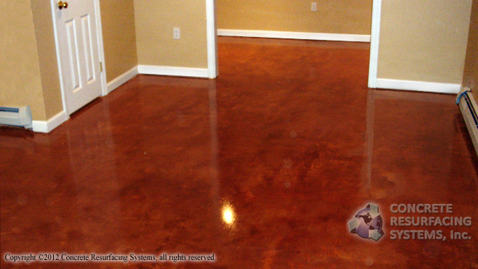 Stained Concrete Floors In Homes : Concrete stain resurfacing systems