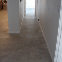 concrete floor before epoxy application