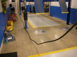 Epoxy Flooring with Polished Concrete