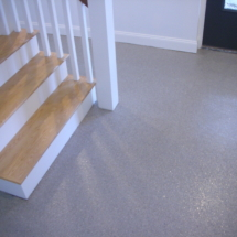 Basement floor epoxy after picture