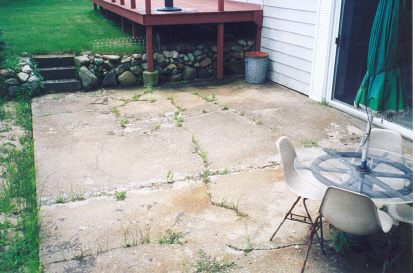 Gentil Another Concrete Patio Where The Homeowner Thought The Only Thing To Do Was  Tear Up The Entire Cement Slab. Cracks, Weeds, Crumbling Cement, All No  Problem ...