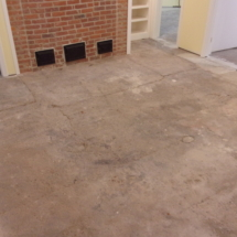 picture of basement floor before epoxy coating