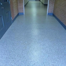 School corridor epoxy paint chip picture