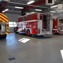 picture of firestaion with epoxy flooring