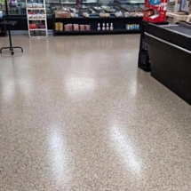 epoxy color flake floor on a grocery store picture